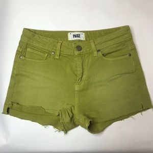 Paige Jeans Green Lola Shorts